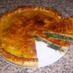 Torta salata con farina integrale, ricotta e cotto