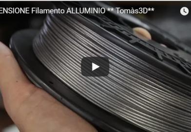 Filamento Alluminio della Tomàs3D   Stampa 3D